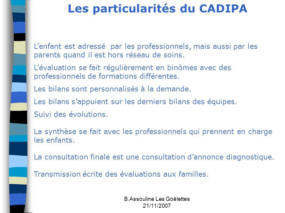 Les particularités du CADIPA