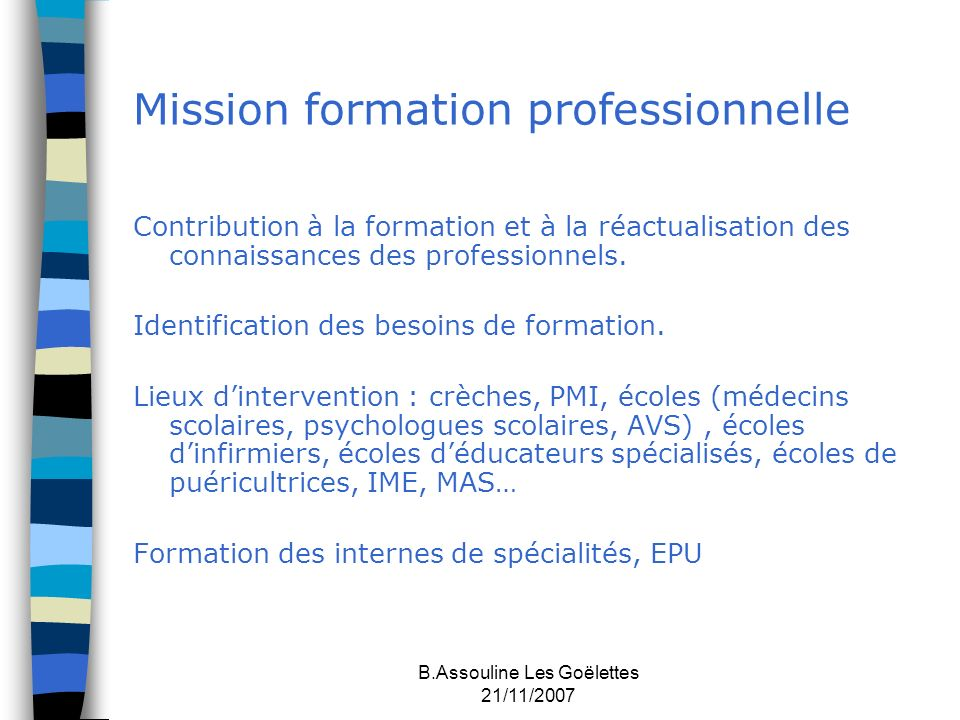 Mission formation professionnelle