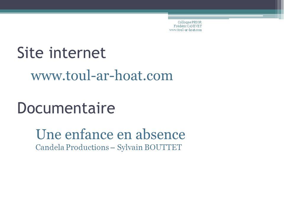 Site internet Documentaire www.toul-ar-hoat.com Une enfance en absence