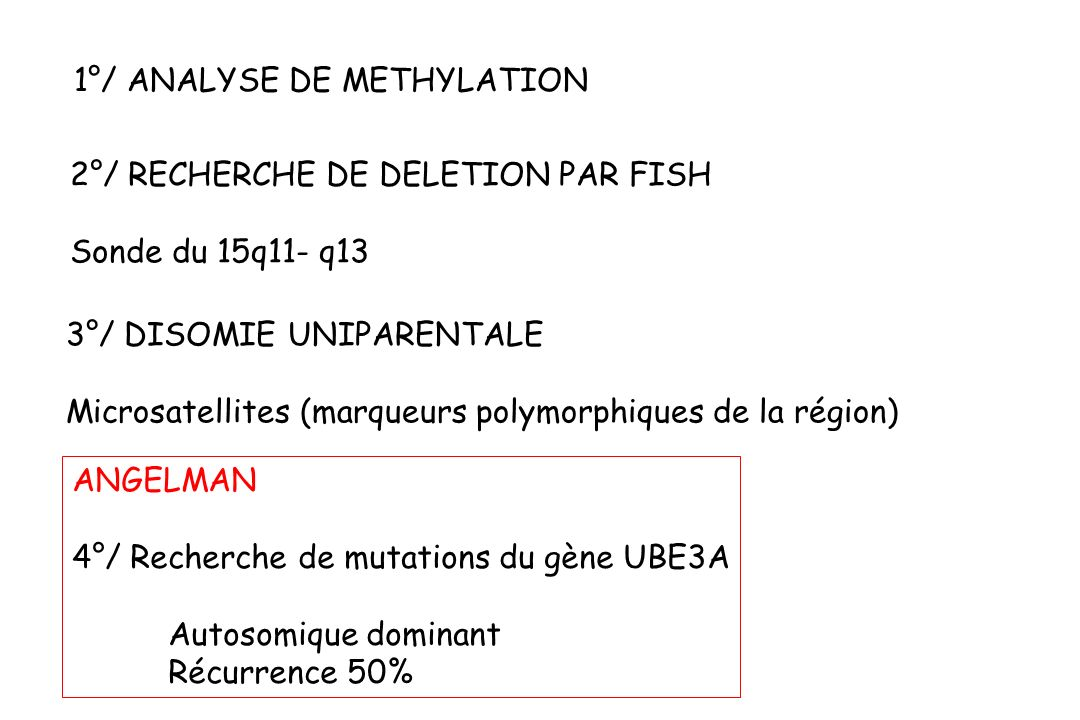 1°/ ANALYSE DE METHYLATION