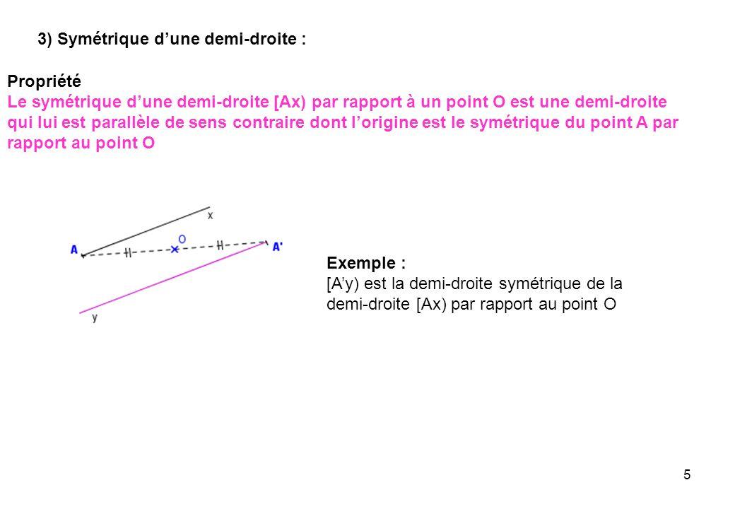 3) Symétrique d'une demi-droite :