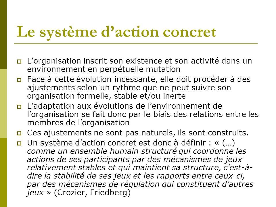 Le système d'action concret