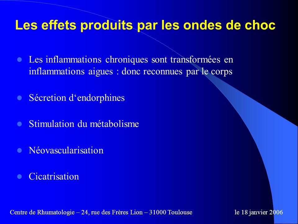 Les effets produits par les ondes de choc