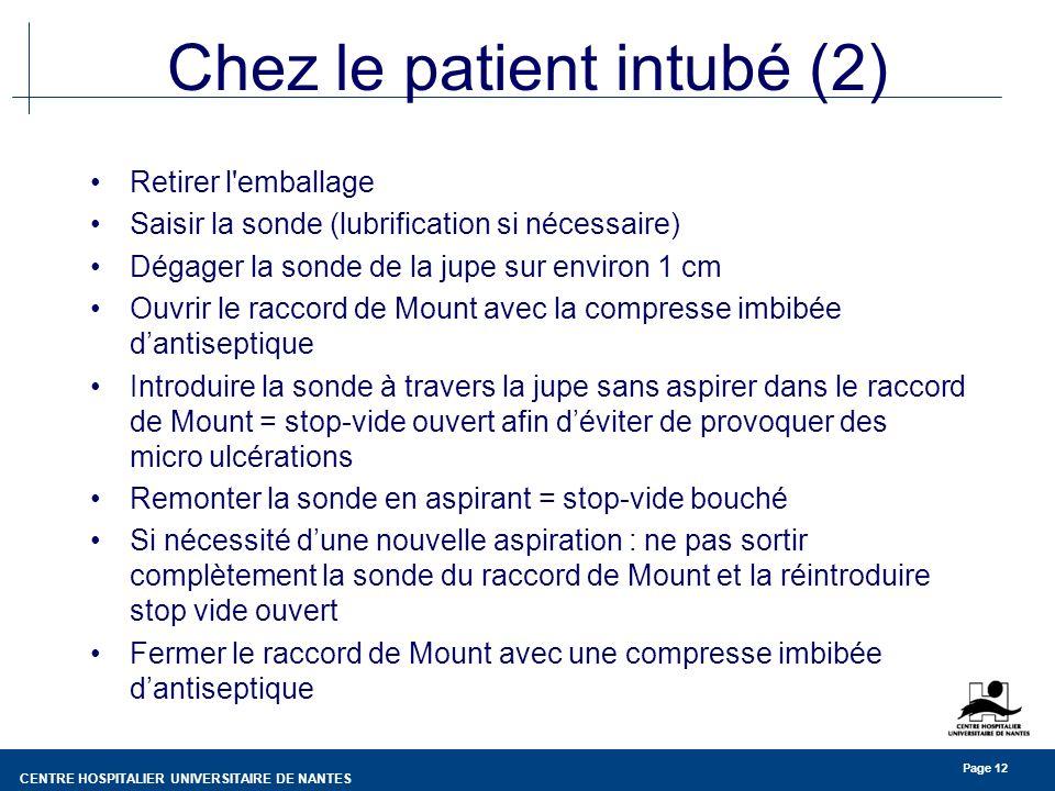 Chez le patient intubé (2)