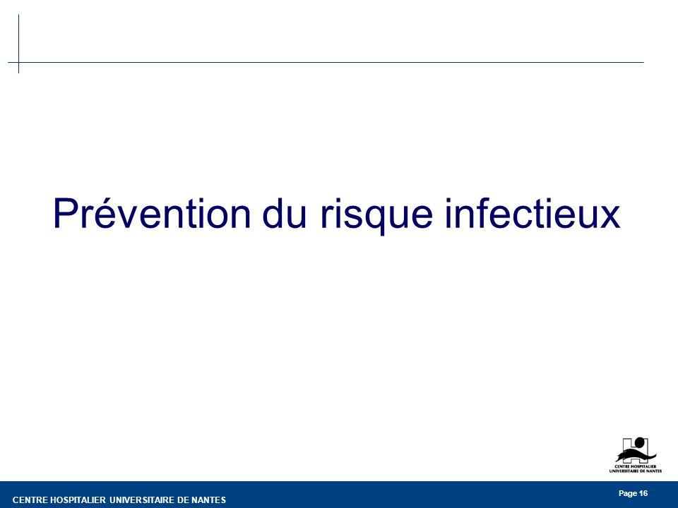 Prévention du risque infectieux
