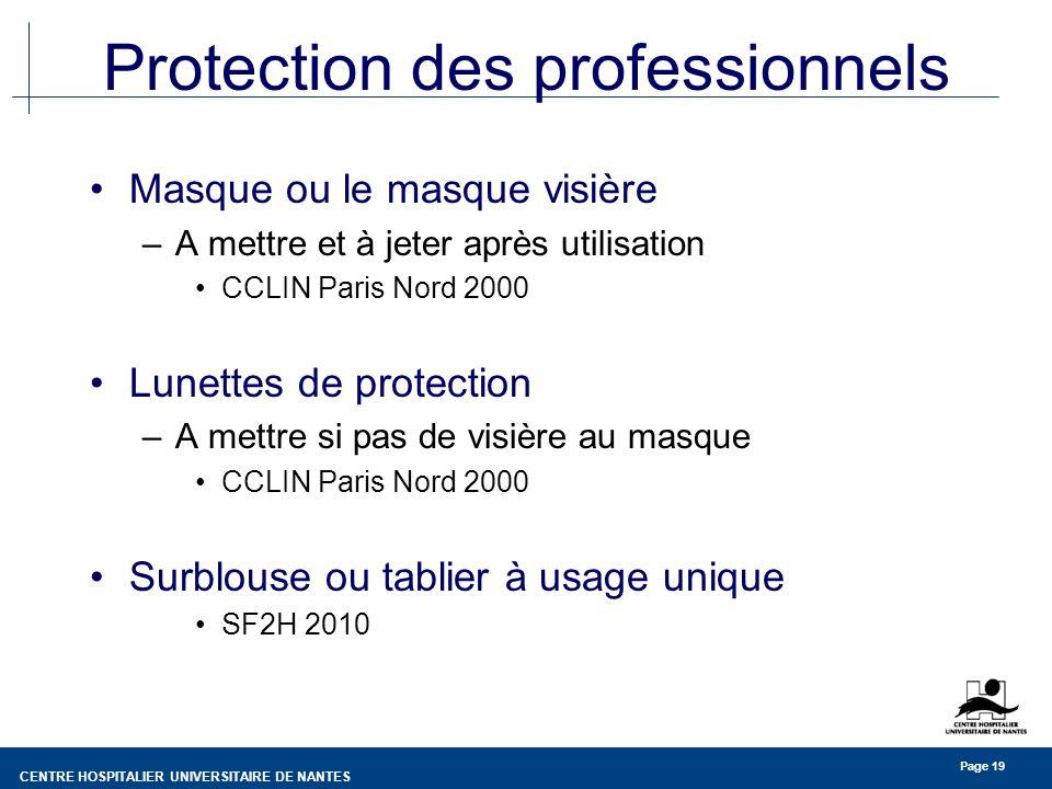 Protection des professionnels