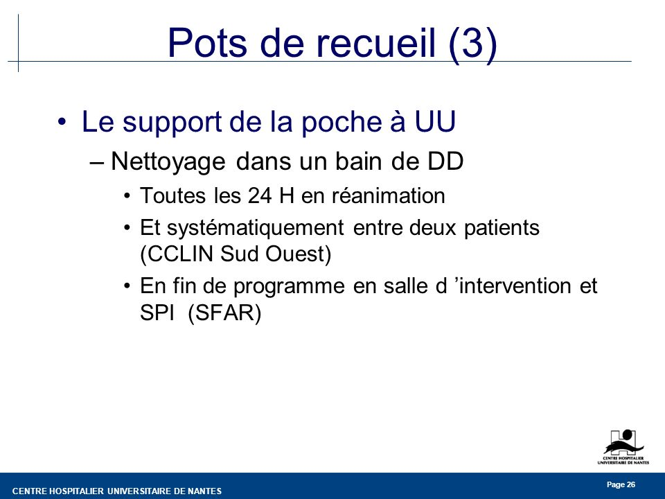 Pots de recueil (3) Le support de la poche à UU