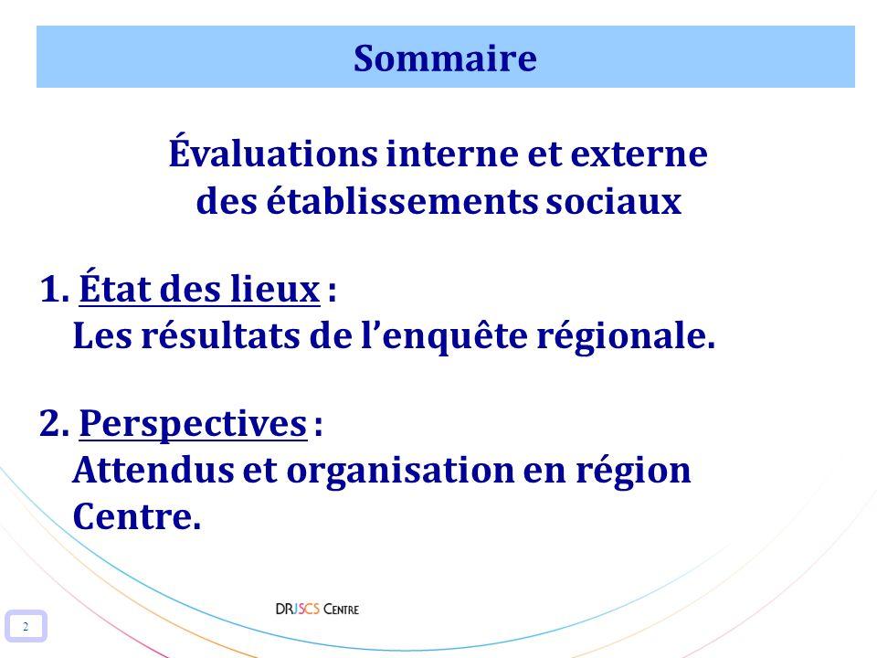 Évaluations interne et externe des établissements sociaux
