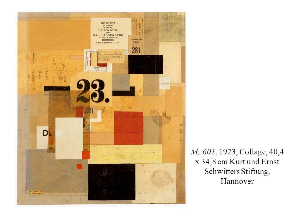 Mz 601, 1923, Collage, 40,4 x 34,8 cm Kurt und Ernst Schwitters Stiftung, Hannover