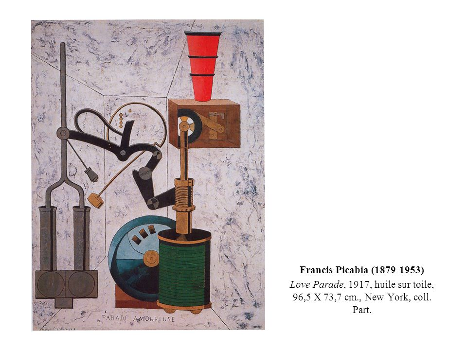 Francis Picabia (1879-1953) Love Parade, 1917, huile sur toile, 96,5 X 73,7 cm., New York, coll.