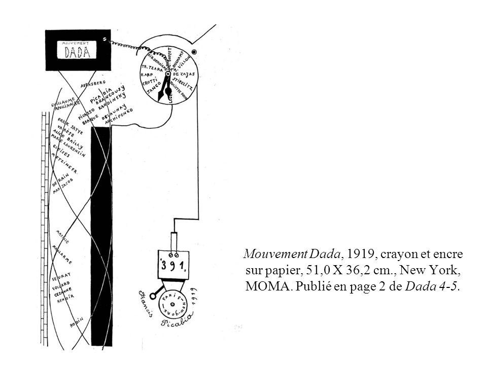 Mouvement Dada, 1919, crayon et encre sur papier, 51,0 X 36,2 cm