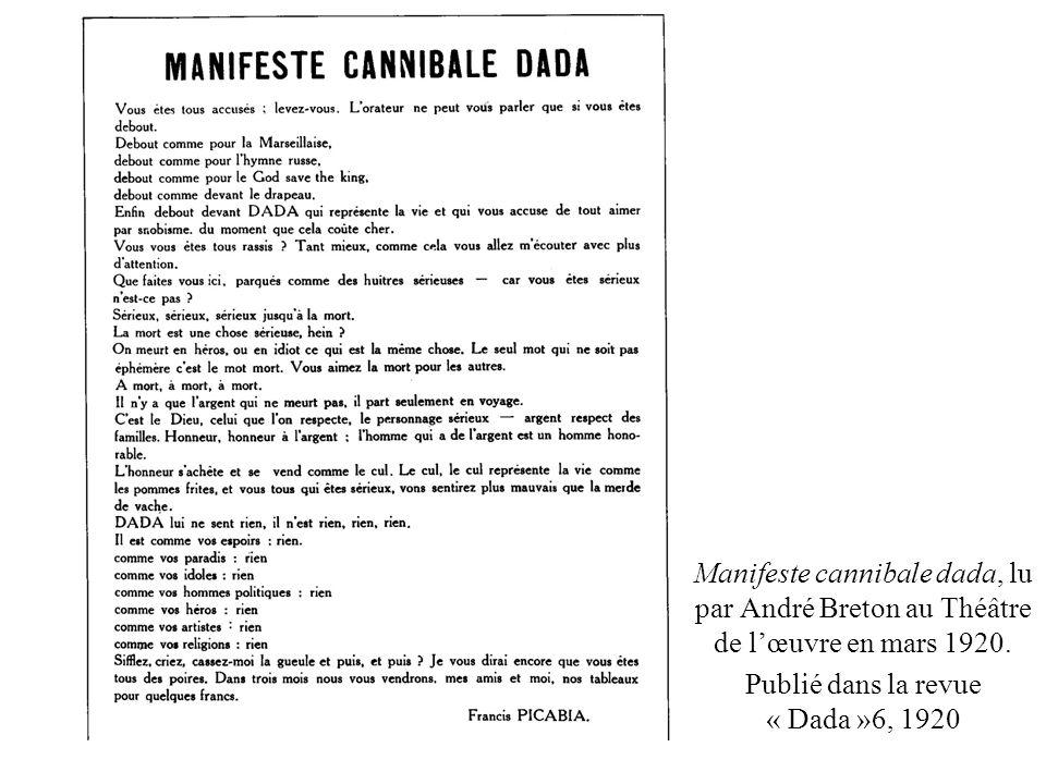 Publié dans la revue « Dada »6, 1920