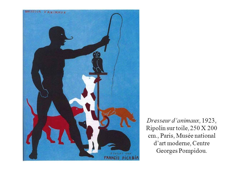 Dresseur d'animaux, 1923, Ripolin sur toile, 250 X 200 cm