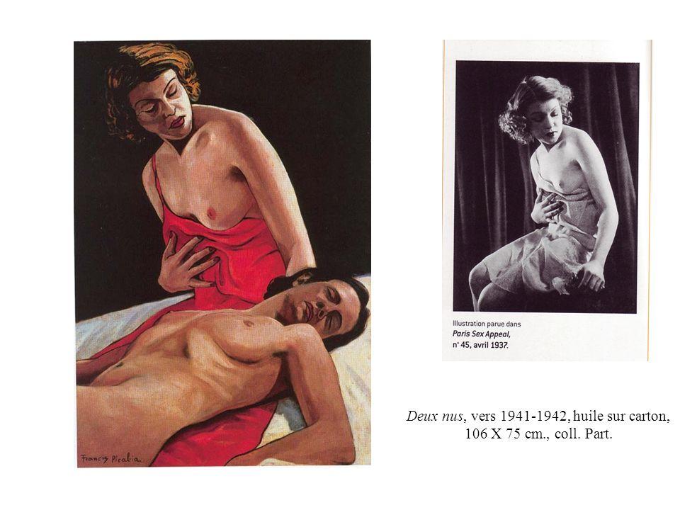 Deux nus, vers 1941-1942, huile sur carton, 106 X 75 cm., coll. Part.