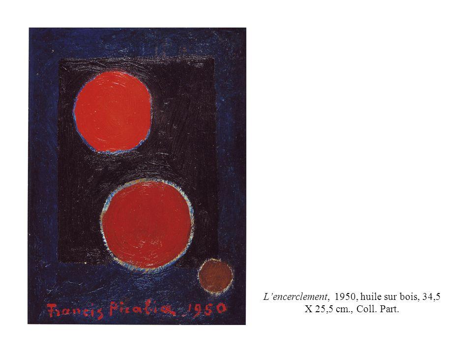 L'encerclement, 1950, huile sur bois, 34,5 X 25,5 cm., Coll. Part.