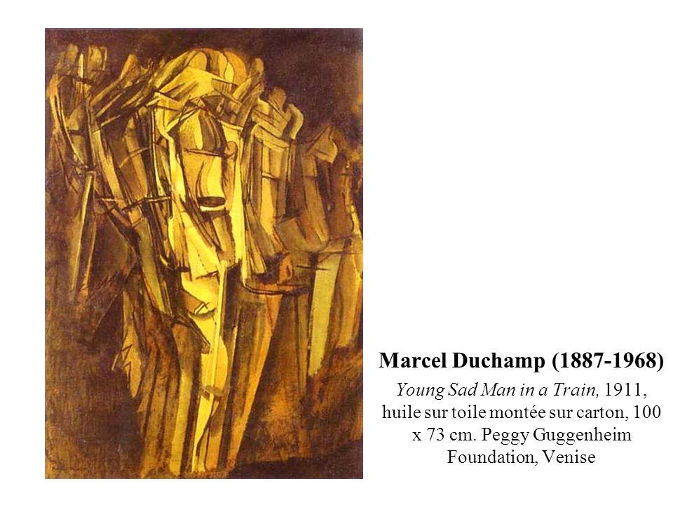 Marcel Duchamp (1887-1968) Young Sad Man in a Train, 1911, huile sur toile montée sur carton, 100 x 73 cm.