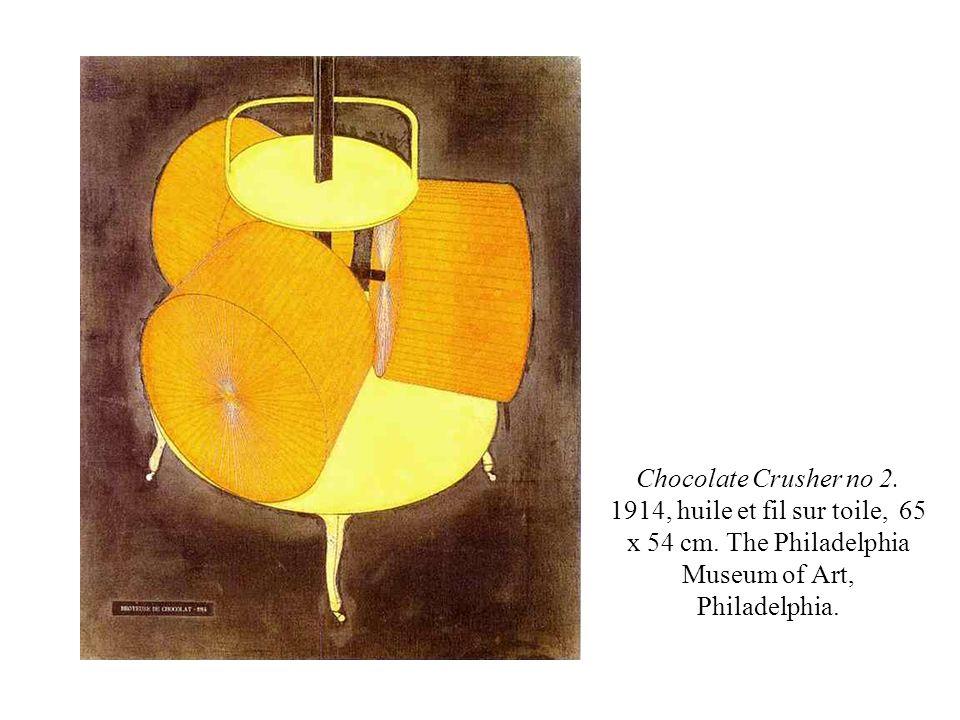 Chocolate Crusher no 2. 1914, huile et fil sur toile, 65 x 54 cm
