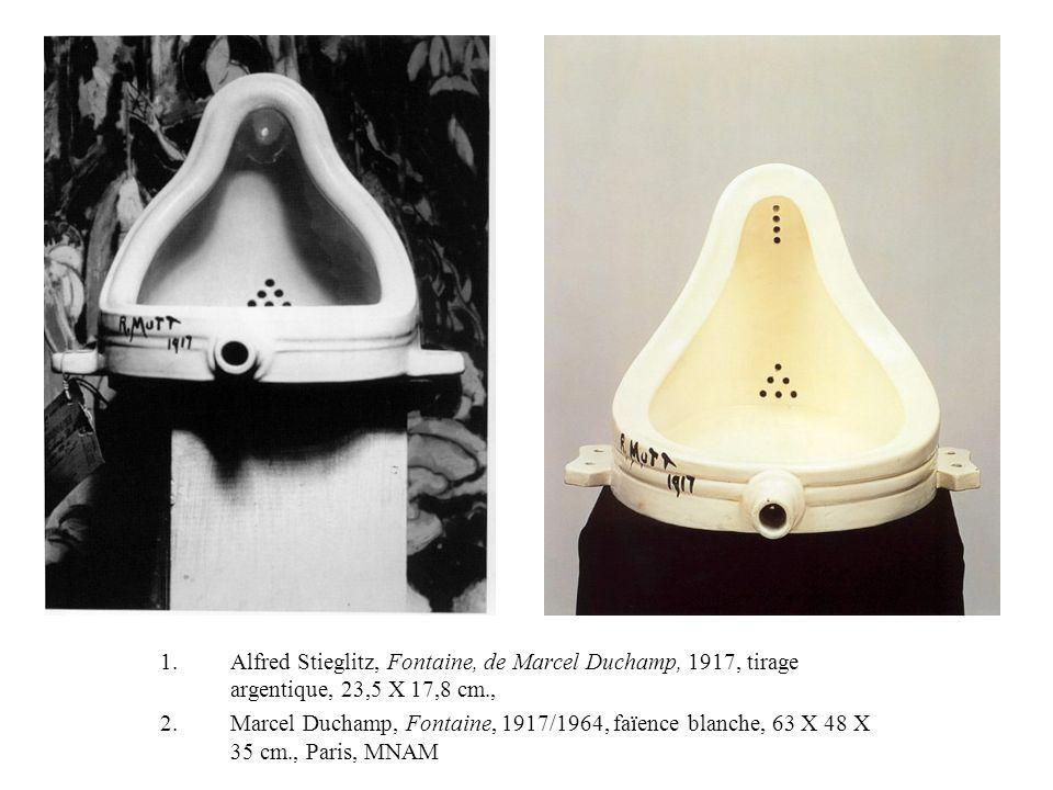 Alfred Stieglitz, Fontaine, de Marcel Duchamp, 1917, tirage argentique, 23,5 X 17,8 cm.,