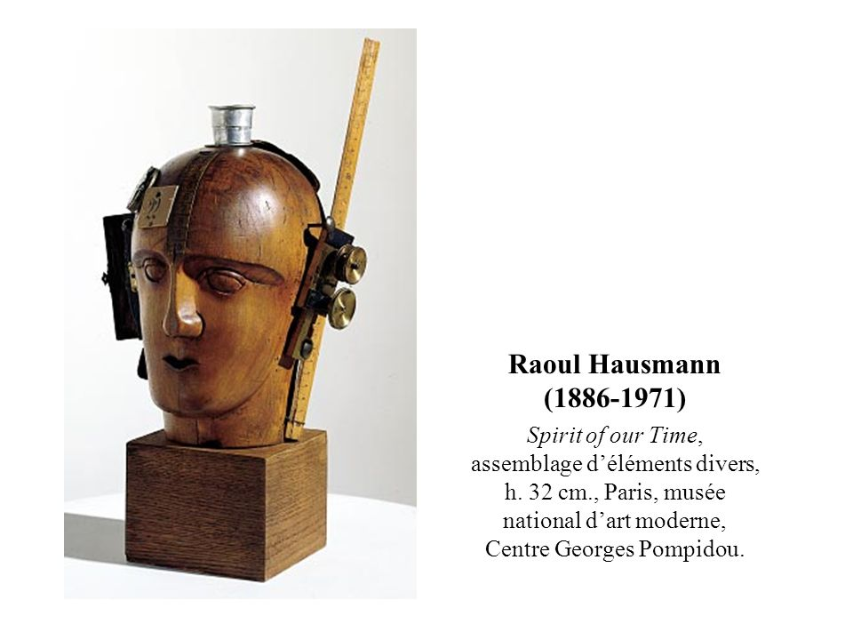 Raoul Hausmann (1886-1971) Spirit of our Time, assemblage d'éléments divers, h.