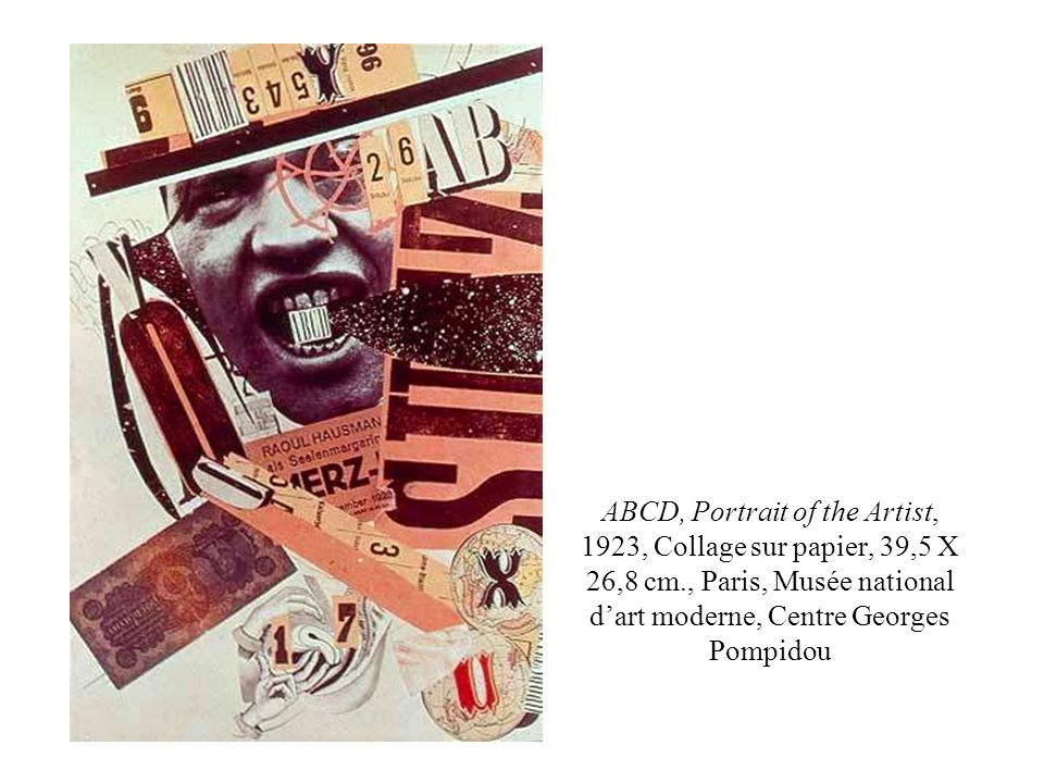 ABCD, Portrait of the Artist, 1923, Collage sur papier, 39,5 X 26,8 cm