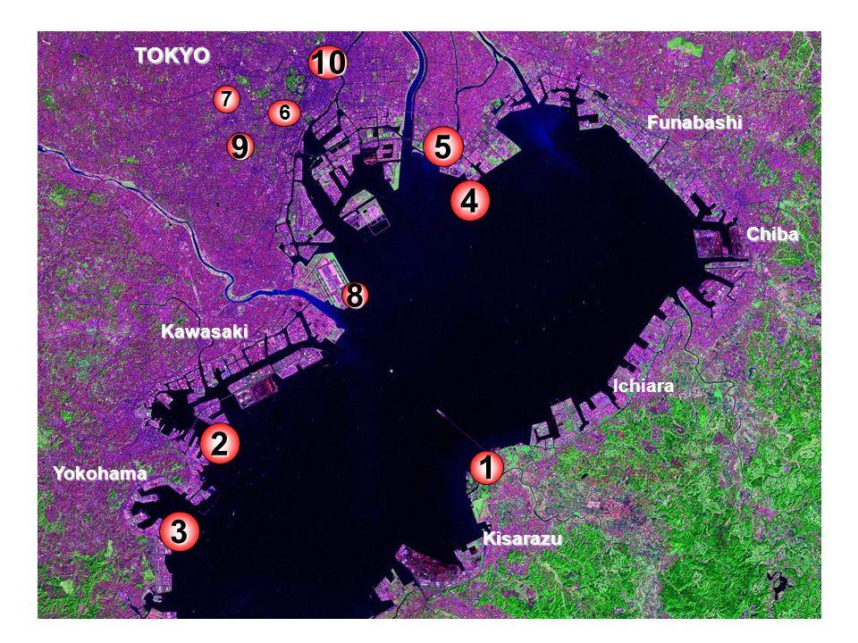 10 5 9 4 8 2 1 3 TOKYO 7 6 Funabashi Chiba Kawasaki Ichiara Yokohama