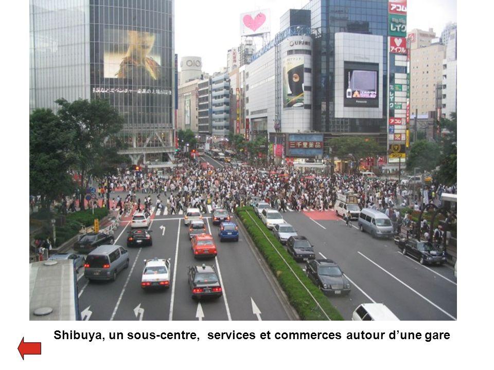 Shibuya, un sous-centre, services et commerces autour d'une gare
