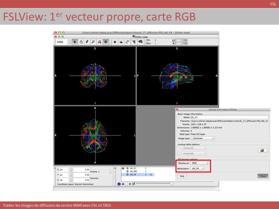 FSLView: 1er vecteur propre, carte RGB