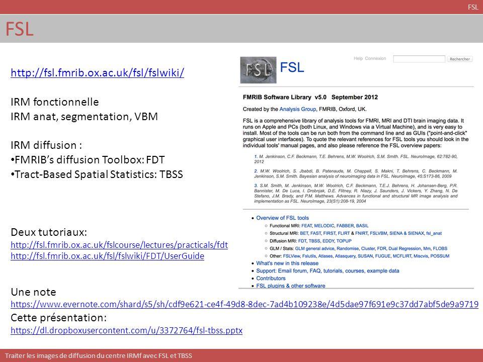 FSL http://fsl.fmrib.ox.ac.uk/fsl/fslwiki/ IRM fonctionnelle