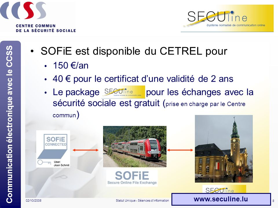 Communication électronique avec le CCSS