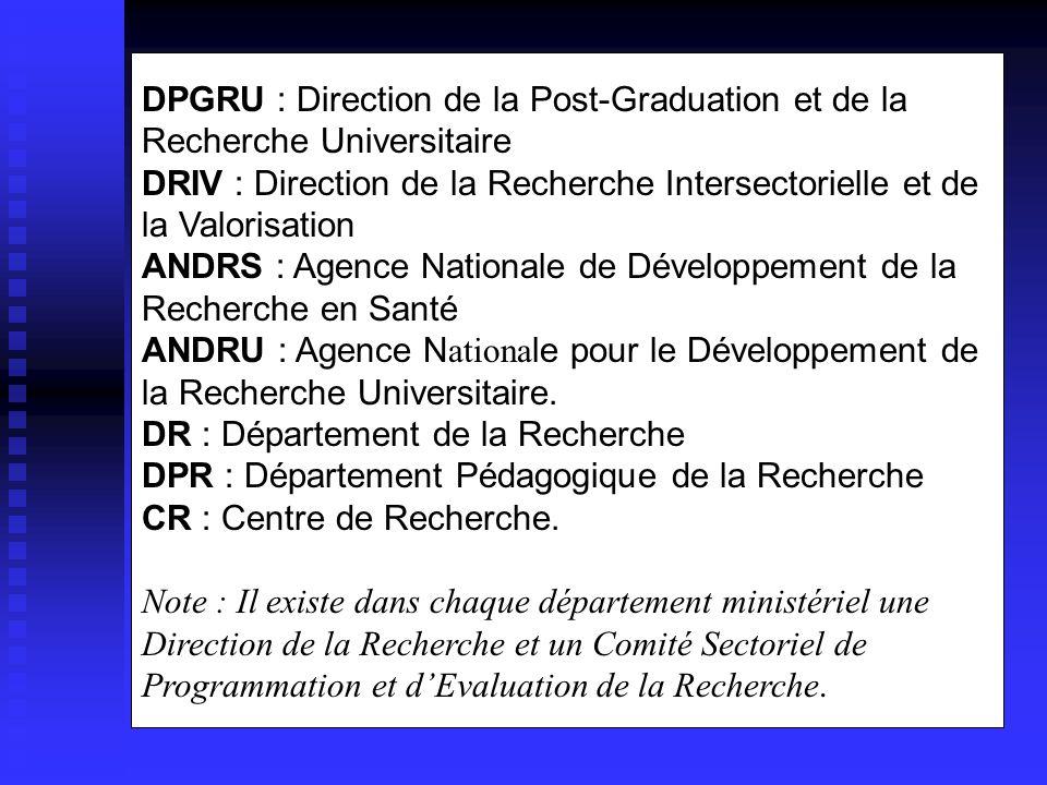 ANDRS : Agence Nationale de Développement de la Recherche en Santé