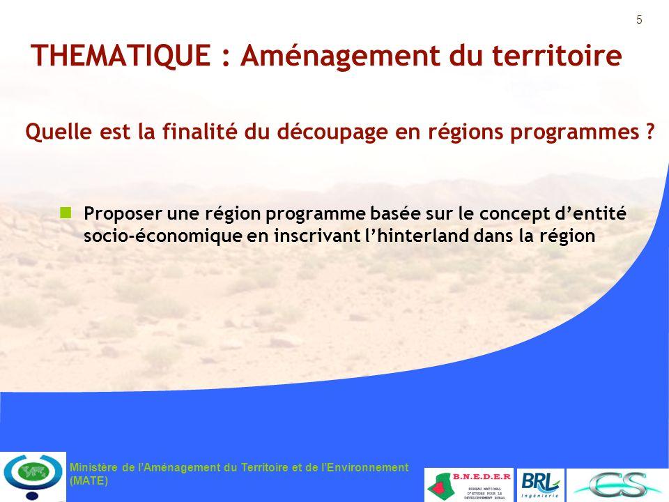 THEMATIQUE : Aménagement du territoire