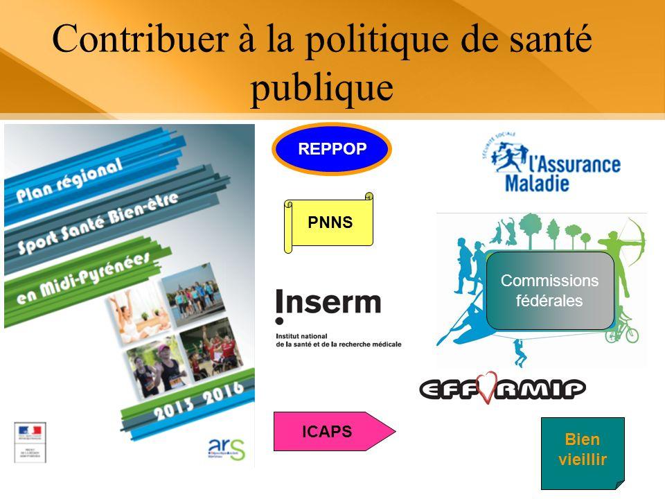 Contribuer à la politique de santé publique