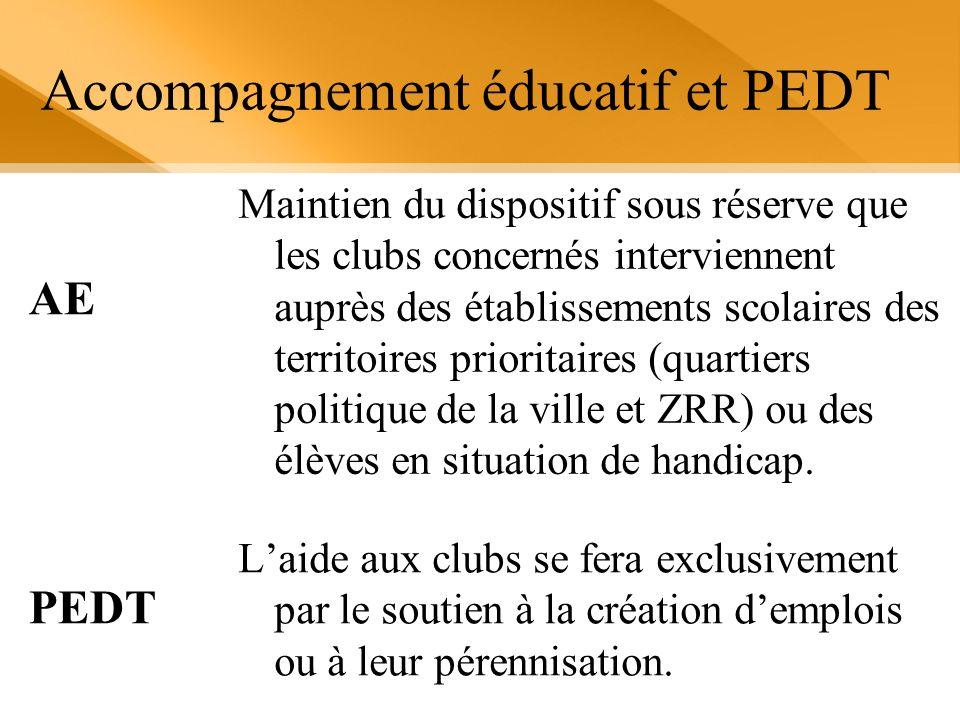 Accompagnement éducatif et PEDT