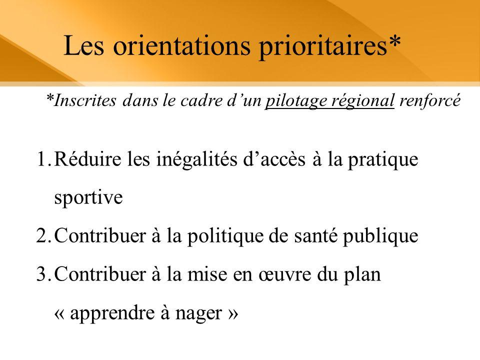 Les orientations prioritaires*