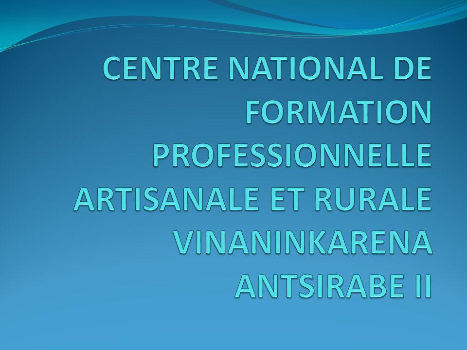 CENTRE NATIONAL DE FORMATION PROFESSIONNELLE ARTISANALE ET RURALE VINANINKARENA ANTSIRABE II