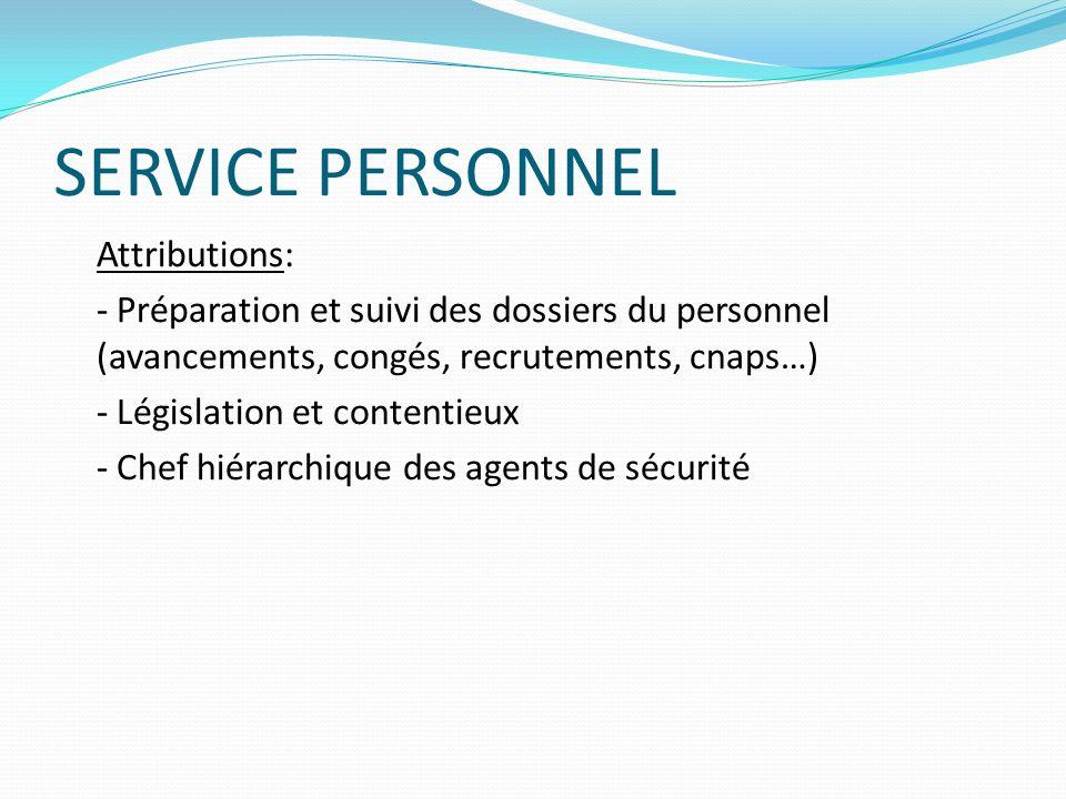 SERVICE PERSONNEL