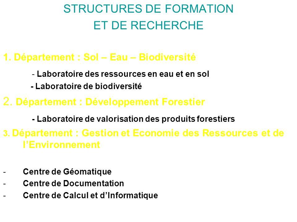 STRUCTURES DE FORMATION