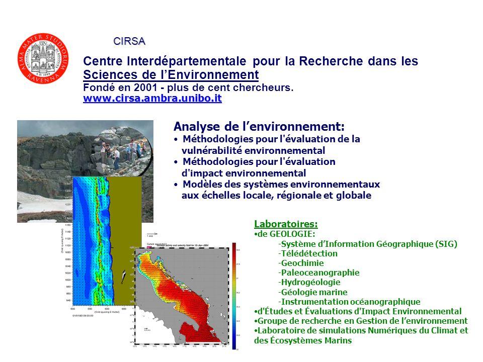 CIRSA Centre Interdépartementale pour la Recherche dans les Sciences de l'Environnement. Fondé en 2001 - plus de cent chercheurs.
