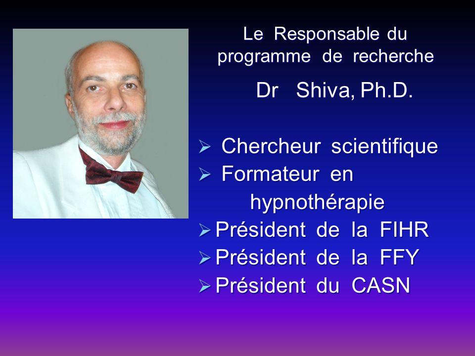 Le Responsable du programme de recherche