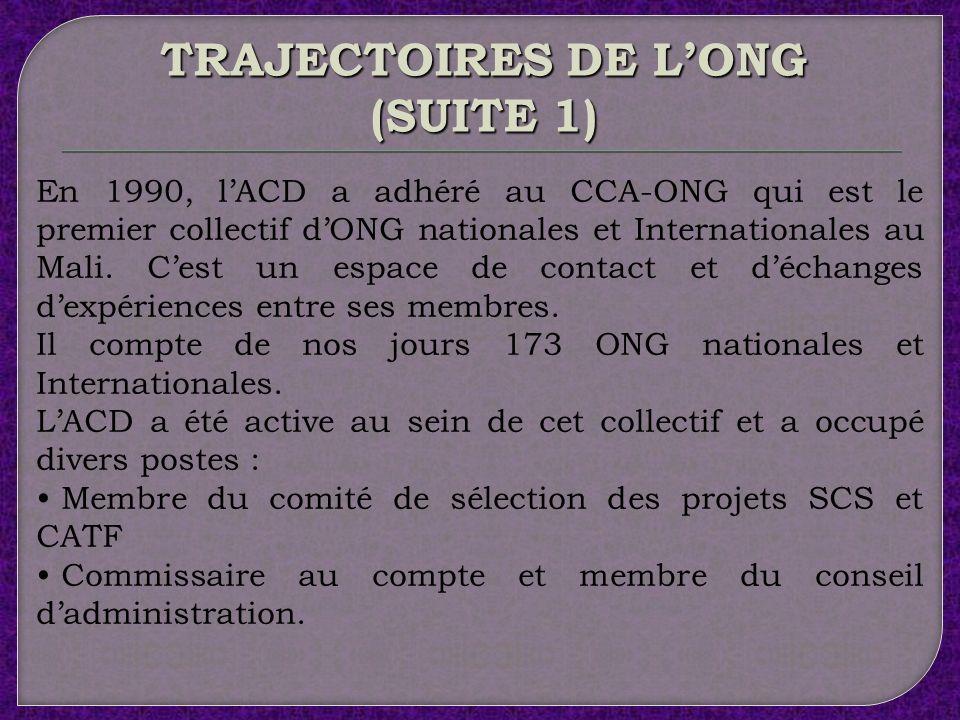 TRAJECTOIRES DE L'ONG (SUITE 1)