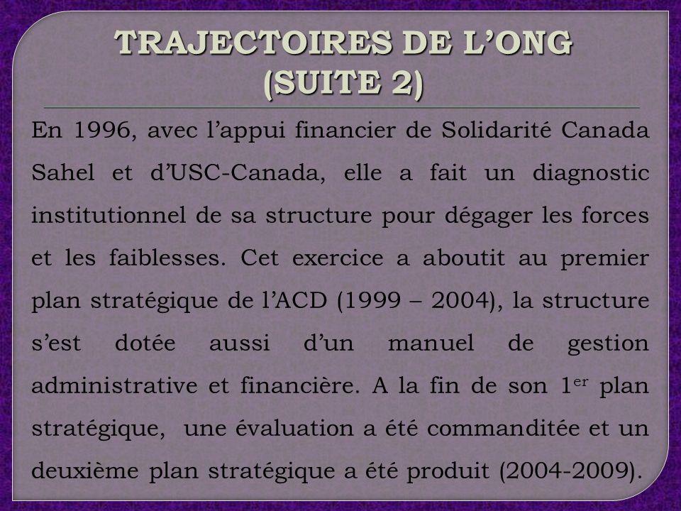 TRAJECTOIRES DE L'ONG (SUITE 2)