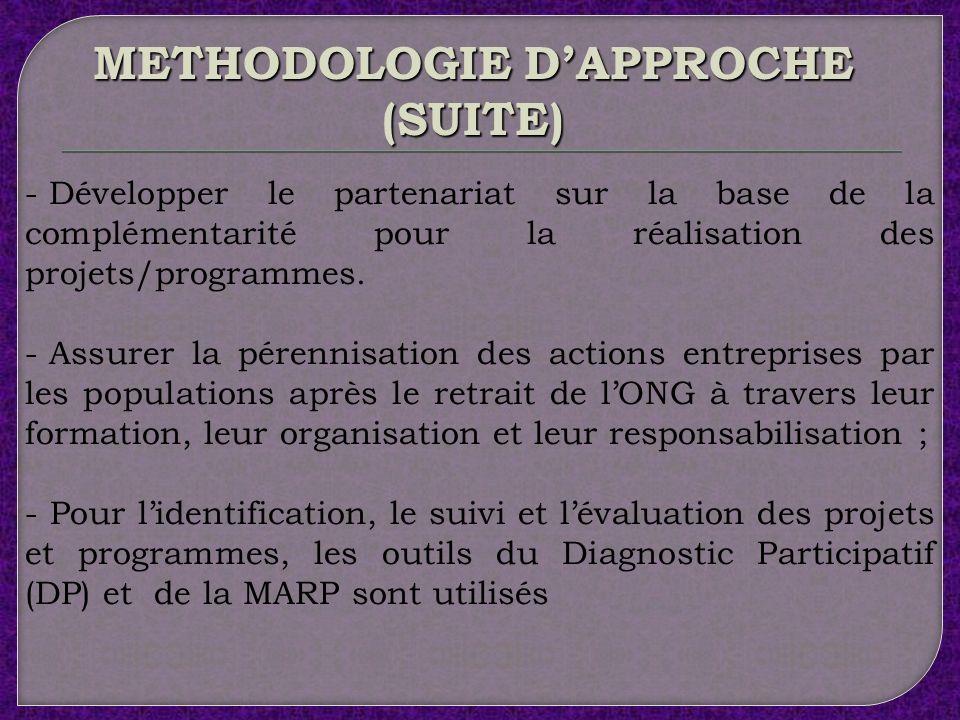 METHODOLOGIE D'APPROCHE