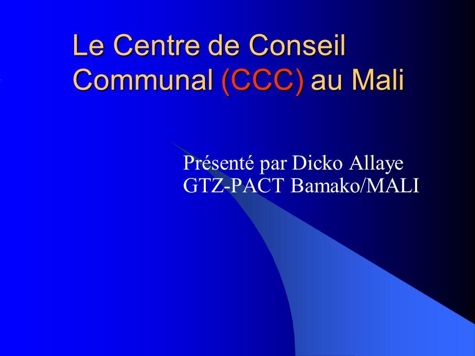 Le Centre de Conseil Communal (CCC) au Mali