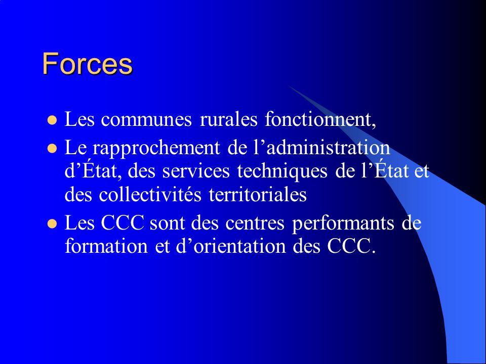 Forces Les communes rurales fonctionnent,