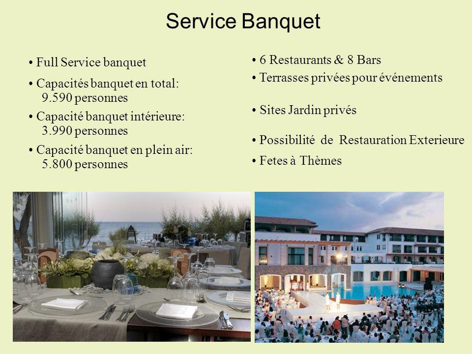 Service Banquet Full Service banquet 6 Restaurants & 8 Bars