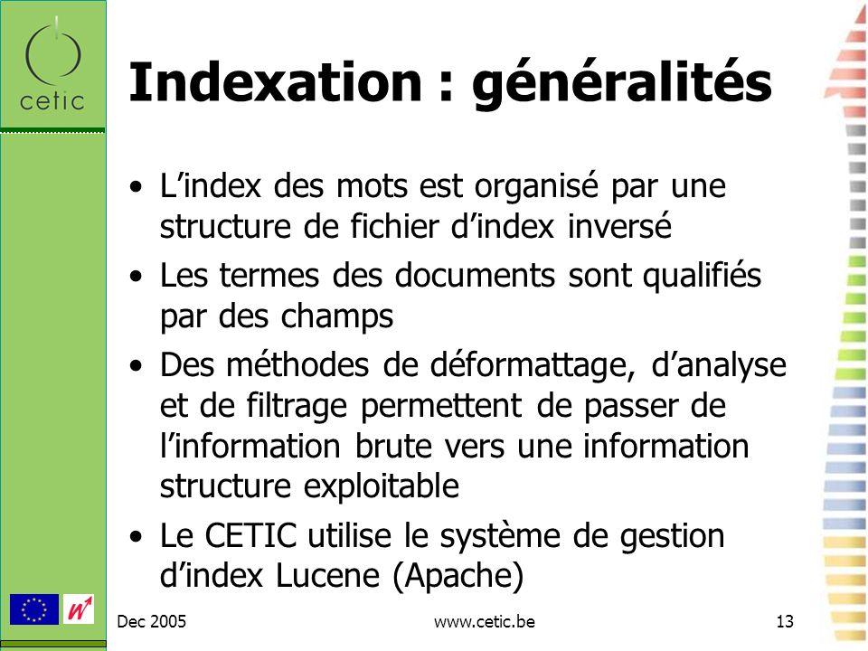 Indexation : généralités
