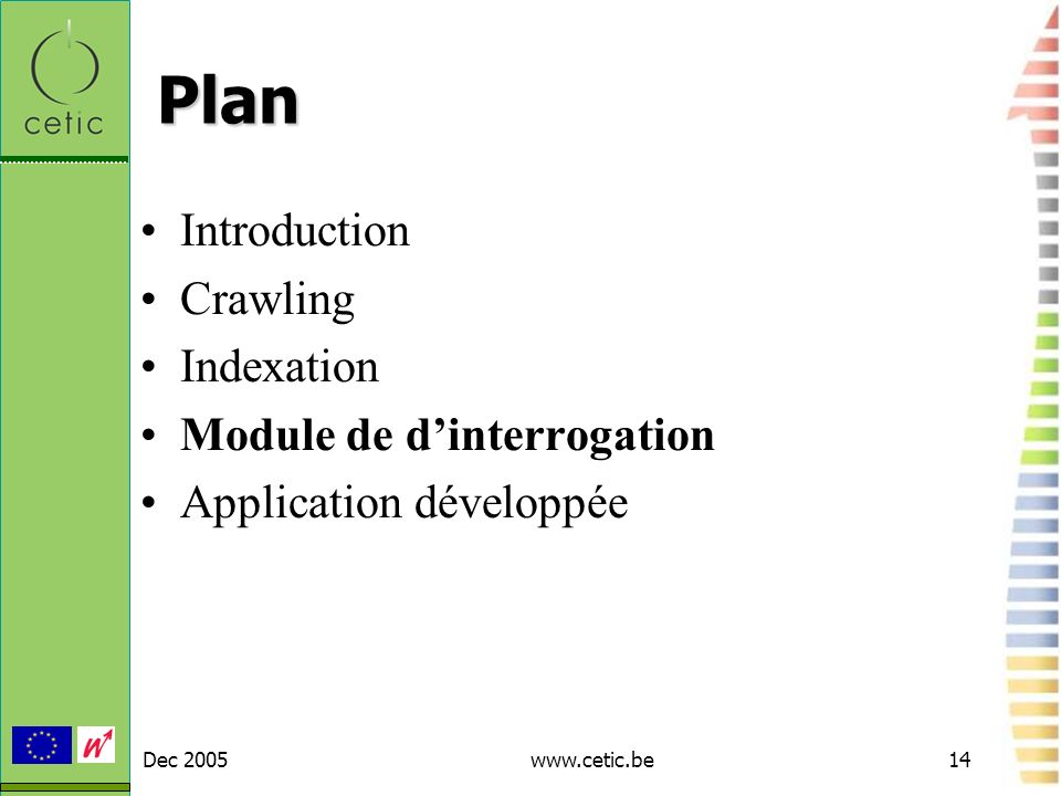 Plan Introduction Crawling Indexation Module de d'interrogation