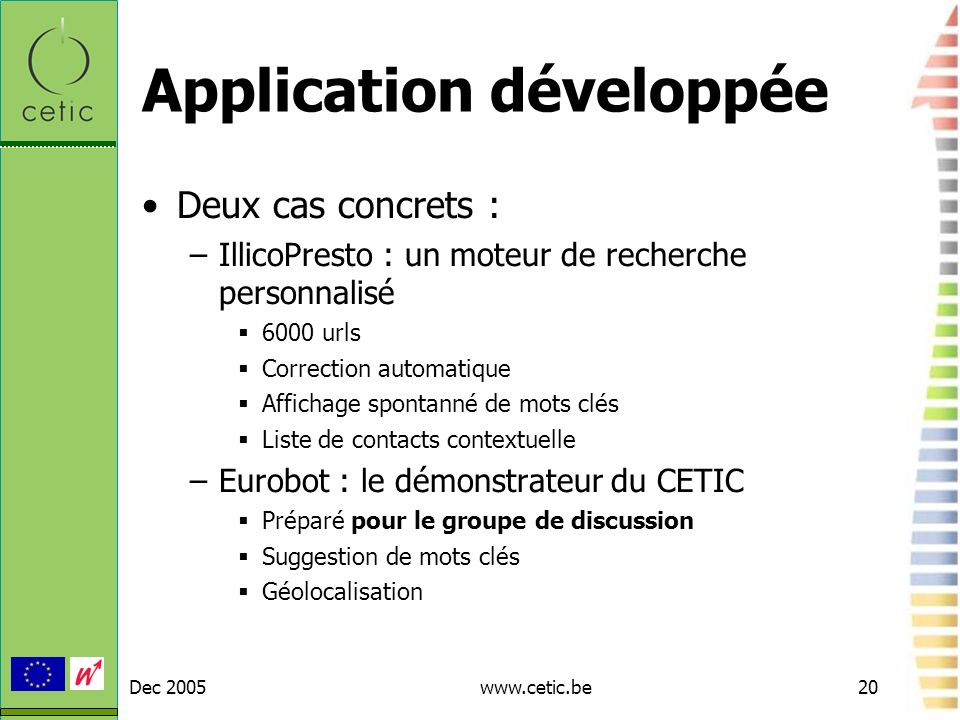 Application développée
