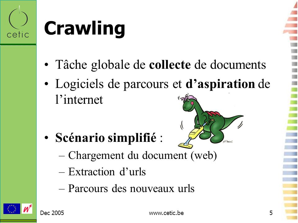 Crawling Tâche globale de collecte de documents