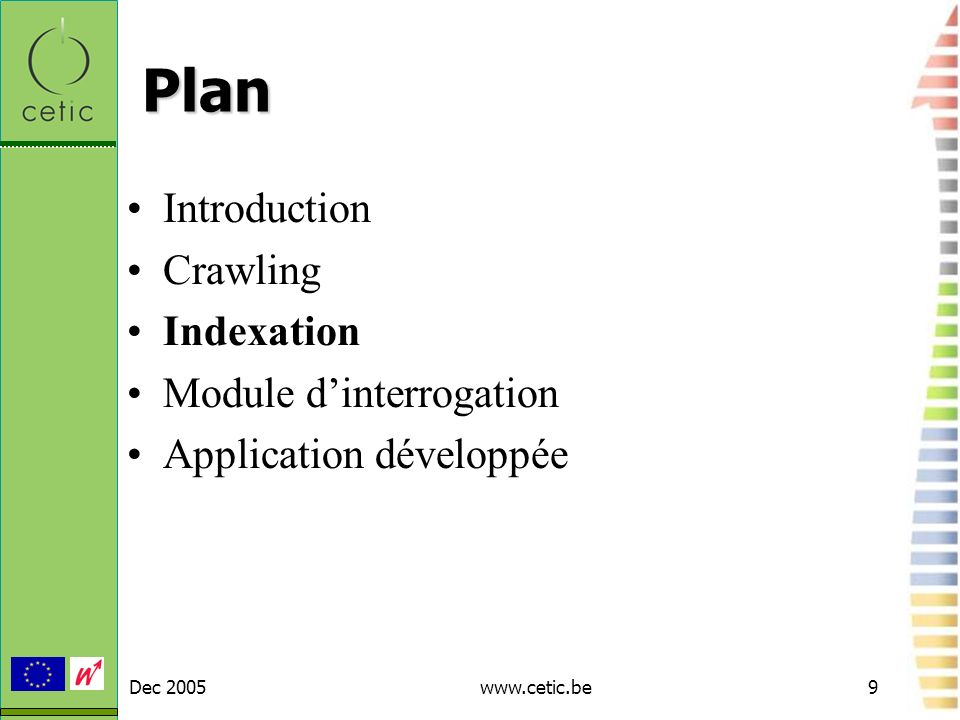 Plan Introduction Crawling Indexation Module d'interrogation